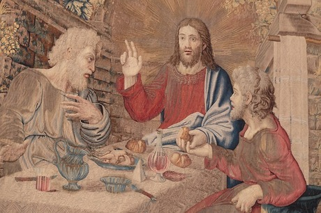 Jesus with disciples at Emmaus