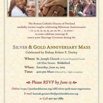 SILVER & GOLD MASS WITH BISHOP DEELEY AT ST. JOSEPH CHURCH