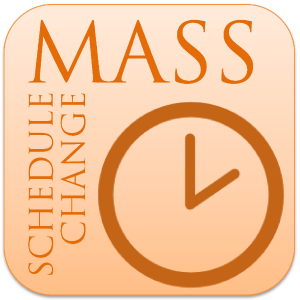 Mass Schedule Change October 26 & 27, 2019