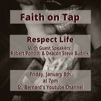 Join us for our next Faith on Tap on January 8th at 7pm!
