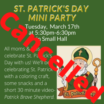 Celebrate St. Patrick's Day with us! CANCELED