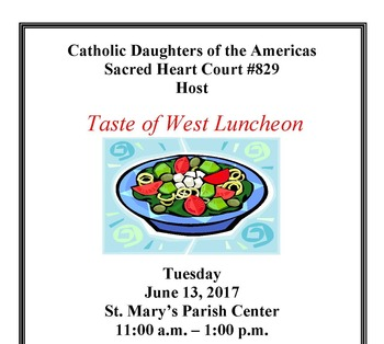 A Taste of West Luncheon