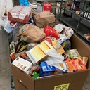 In three hours, parish donated 4,000 pounds of food to local pantry