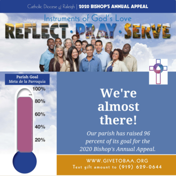 Bishop's Annual Appeal: Parish has raised 96 percent of its goal