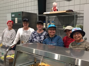 Three hours, once a month to serve hungry neighbors