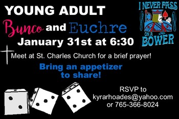 Young Adult Bunco and Euchre Night