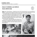 SCHOOL NEWS - OLGC SCHOOL ALUMNUS MAX SPENCER.