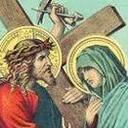 YOUTH PRAYING LIVING STATIONS OF THE CROSS