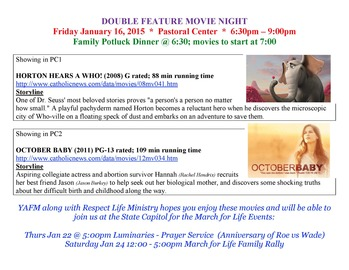 DOUBLE FEATURE MOVIE NIGHT