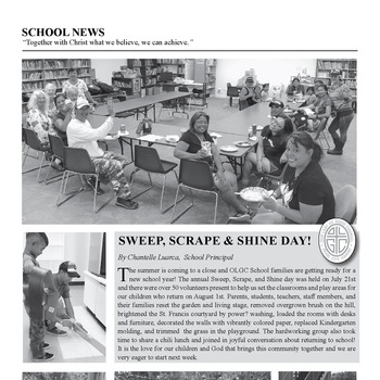 SCHOOL NEWS - SWEEP, SCRAPE & SHINE DAY!