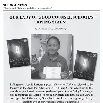 SCHOOL NEWS - OUR LADY OF GOOD COUNSEL SCHOOL'S RISING STARS!