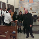 Bishop Mulvey congratulates St. John Paul II seniors
