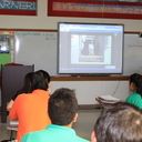 IWA students watch  <div>  live stream of pope visit </div>