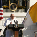Pope, 'son of immigrant family,' says he's ready to learn in U.S.