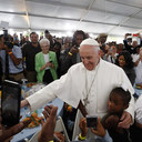 Pope's visit to Catholic Charities meal seen as&nbsp; <div>  sign of hope for the poor </div>