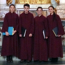 Students sing for Pope Francis
