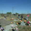 Robstown Middle School cleans cemetery for All Souls Day