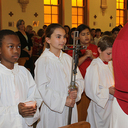 Students follow the footsteps of Jesus: Stations of the Cross