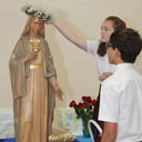 Students help mothers in need in honor of the Virgin Mary