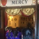 Middle school youth make pilgrimage walk to Holy Doors at Corpus Christi Cathedral