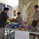 St. Pius Scouts help brother scouts recover