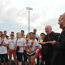 School celebrates homecoming with a blessing, a parade and burning of the 'C'