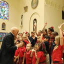Montessori students tour Cathedral