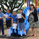 Bishop blesses new playground, wellness stations