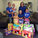 1550 diapers collected for pregnancy clinic