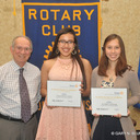 Rotary Club recognized two outstanding students