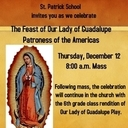 Play and celebration of the Feast of Our Lady of Guadalupe, Patroness of the Americas