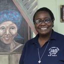 Sister Marilyn brightens the halls with her striking art and irresistible smile