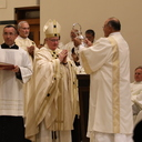 Bishop unifies priests and blesses holy oils at the Chrism Mass
