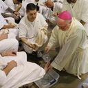Bishop Mulvey celebrates Holy Thursday Mass in prison