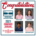 IWA seniors named commended scholars in National Merit Scholarship Program