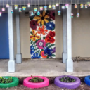 St. Pius X students beautify their Prayer Garden, while learning valuable lessons