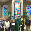 Beeville Knights present Eagle Scout Award to Robert Rosas, Jr.