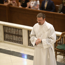 Bishop Mulvey ordains Deacon David Brokke to the priesthood