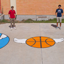 Jeanne de Matel project beautifies basketball court