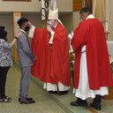 Bishop Mulvey confirms Holy Family youth
