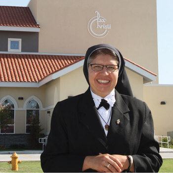 Sister Guadalupe's namesake is her constant companion