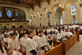Bishop recognizes altar servers for their service