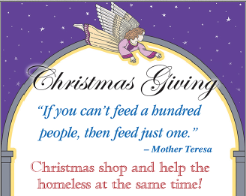 Donations to Mother Teresa Shelter can earn angel Christmas card, tree ornament
