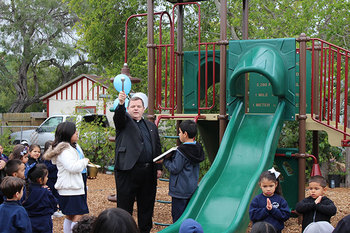 Holy Family School gets a new pre-school playground