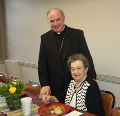 Bishop Michael Mulvey celebrates 65th birthday with chancery staff