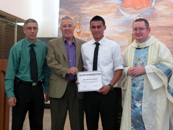 St. John Paul II senior receives the 2014 Gen. Cisneros Award
