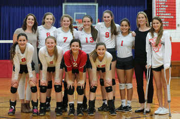 Lady Angels volleyball team advances to area playoff game