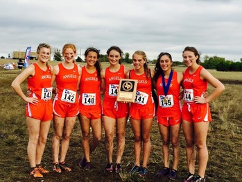 Lady Angels Place at TAPPS State Cross Country Meet