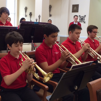 Band and choir perform assisted living center