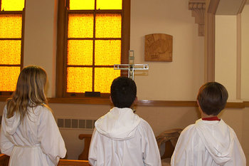Stations of the Cross led by fifth grade students